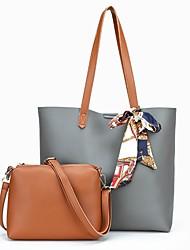 Damen Bag Sets PU Ganzjährig Normal Barrel Bag Reißverschluss Blau Schwarz Rote Grau