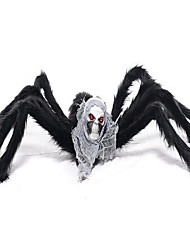 New Halloween Decorative Items Ghosthead Spider Black Haunted House Bar Skeleton Head Props
