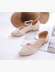 Women's Sandals Comfort Denim Summer Casual Comfort White Flat