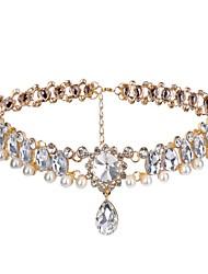 L.WEST Women's Imitation Diamond Choker Necklaces