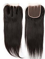 4x4inch прямые волосы кружева передняя крышка remy человеческие волосы закрытие детские волосы 8-20inch 3 часть способ