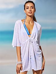 Women's Halter One-piece Plunging Neckline Polyester Solid