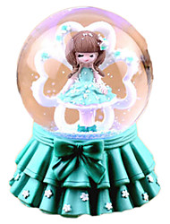 Music Box Round Crystal