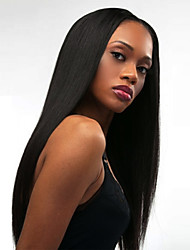 Sexy Women Wig 24inch Long Black Color Fashion Natural Straight High Temperature Resistant Synthetic Wigs