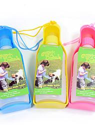 Chat Chien Bols & Bouteilles d'eau Animaux de Compagnie Bols & alimentation Portable Jaune Bleu Rose