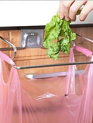 Multifunctional Garbage Bags Hanging Rack Shelf In The Kitchen Creative Door Type Stainless Steel Towel Tied Back