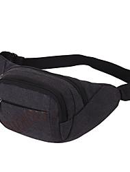 жен. Поясная сумка Нейлон Лето Синий Черный Светло-зеленый Кофейный Хаки