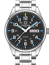 Carnival Муж. Нарядные часы Модные часы Наручные часы Кварцевый Календарь Защита от влаги Светящийся Нержавеющая сталь ГруппаС подвесками