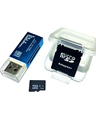 4GB MicroSDHC TF Memory Card with all in one USB Card Reader and SDHC SD Adapter