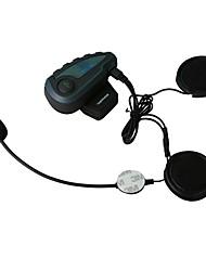 2017 FreedConn  V8 Pro Motorcycle Helmet Bluetooth Headset Intercom 5 Riders 1200M Wireless Intercomunicador BT Interphone