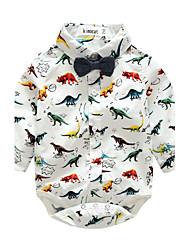 Une-Pièce bébé Animal Imprimé Coton Printemps/Automne Manches longues