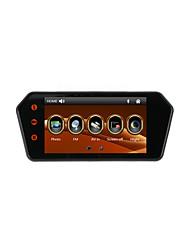 Écran tactile 7 pouces voiture mp5 moniteur rétroviseur avec bluetooth / fm / usb / tf support carte 1080p lecteur vidéo et caméra