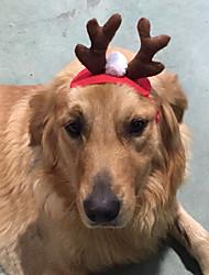 Собака Аксессуары для шерсти Одежда для собак Рождество Северный олень Красный