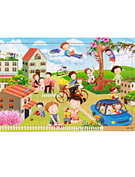 Jigsaw Puzzles Jigsaw Puzzle Building Blocks DIY Toys Others House Sun Bicycle Cartoon Flower Wooden