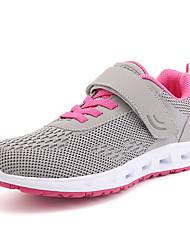 Femme Chaussures d'Athlétisme Confort Tulle Eté Automne Athlétique Décontracté Marche Lacet Plateforme Bleu de minuit Gris 5 à 7 cm