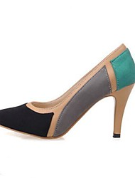 Damen Schuhe Nubukleder Frühling Komfort High Heels Mit Für Normal Schwarz Blau Rosa