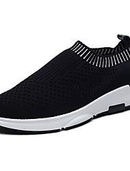 Men's Athletic Shoes Comfort Tulle Spring Fall Outdoor Flat Heel Ruby Light Grey Dark Grey Black Under 1in
