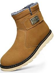 Для мужчин Ботинки Зимние сапоги Модная обувь Ткань Зима Повседневные Шнуровка На плоской подошве Черный Желтый Темно-коричневыйНа
