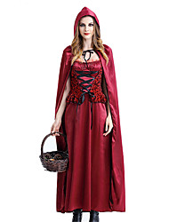 One-Piece/Dress Cosplay Costumes Masquerade Fairytale Cosplay Festival/Holiday Halloween Costumes Red Others Vintage Dresses Cloak