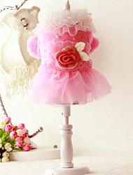 Chien Robe Vêtements pour Chien Mariage Floral/Botanique
