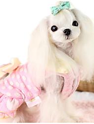 Chien Robe Vêtements pour Chien Décontracté / Quotidien Princesse Jaune Rose