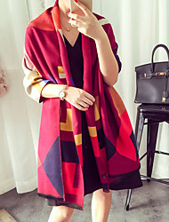Women's Imitation Cashmere Rectangle Patchwork Summer Fall