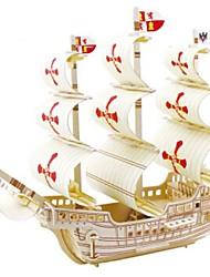 Пазлы Набор для творчества 3D пазлы Строительные блоки Игрушки своими руками Военные корабли Натуральное дерево