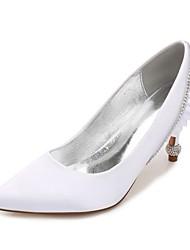 Feminino Sapatos De Casamento Conforto Plataforma Básica Cetim Primavera Verão Casamento Social Festas & NoitePedrarias Gliter com Brilho