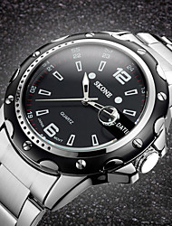 Homens Relógio de Pulso Quartzo Quartzo Japonês Cronógrafo Impermeável Aço Inoxidável Banda Luxuoso Prata