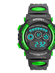 Kid's Digital Watch Digital Rubber Band Black