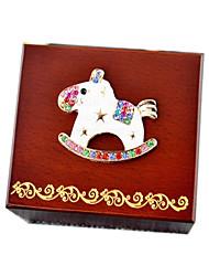 Music Box Horse Wooden