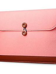 15 polegadas bolsa para laptop saco de felpa de linho para macbook