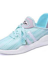 Femme Chaussures d'Athlétisme Confort Tulle Honeycomb Eté Automne Athlétique Décontracté Marche Lacet Plateforme Blanc Noir Bleu7,5 à 9,5