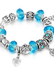 Women's Strand Bracelet Metallic Handmade Fashion Bohemian Elegant Luxury Unique Causal Statement Jewelry Adorable Simple Alloy Bead Bangle