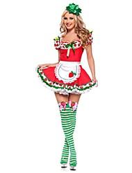 Costumes de Cosplay Tenue Fête d'Octobre/Bière Cosplay Fête / Célébration Déguisement d'Halloween Rétro Robes Coiffures Fête d'Octobre