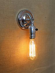 1pcs e27 edison vintage loft aisle cromo lâmpada de parede sem lâmpada para 110 / 220v