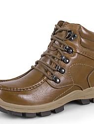 Для мужчин Спортивная обувь Флисовая подкладка Удобная обувь Зимние сапоги Ботильоны Формальная обувь Обувь для дайвинга ЗимаНатуральная