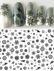 1pcs Christmas Snowflake Nail Art 3D Sticker Beautiful Black Snowflake Pattern Beautiful Butterfly Elf Fairy Lovely Decoration For Nail Beauty F270