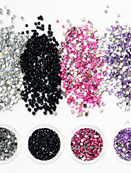 1Bottle Colorful Sweet Style Nail Art DIY Lovely Crystal Rhinestone Decoration Nail Art Design Glitter Rhinestone Fashionable Jewelry Manicure 1-12