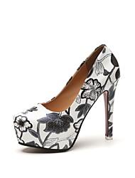 Femme Chaussures à Talons Confort Cuir Verni Printemps Eté Mariage Soirée & Evénement Habillé Talon Aiguille Noir Jaune 10 à 12 cm