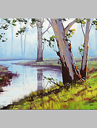 Hand-Painted Landscape Vertical Panoramic,Artistic Nature Inspired Outdoor One Panel Canvas Oil Painting For Home Decoration