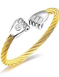 Муж. Браслет цельное кольцо Цирконий Базовый дизайн Мода обожаемый Pоскошные ювелирные изделия КисточкиЦирконий Титановая сталь