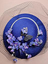 Lace Fabric Silk Net Headpiece-Wedding Special Occasion Birthday Party/ Evening Fascinators Hats 1 Piece