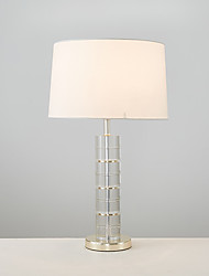 Modern Style Creative Luxury Electroplate Metal with Crystal Table Lamp for the Bedroom /Study Room / Hotel Decorate Europe Style Dest Light