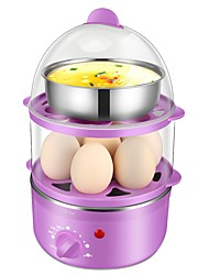 lingrui Egg Cooker Double Eggboilers Multifunction Creative Low Noise Power light indicator Detachable Upright Design 220V Automatic Power Off