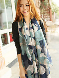 Women's Cotton Rectangle Striped Spring/Fall
