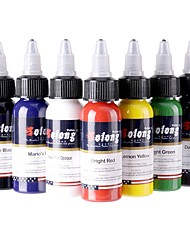 Solong Tattoo New design 7 Basic Colors Tattoo Ink Set Pigment Kit 1oz (30ml) Professional Tattoo Supply for Tattoo Kit TI302-30-7
