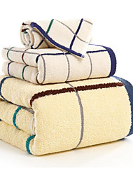Bath Towel Set,Checkered High Quality 100% Cotton Towel