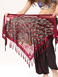 Belly Dance Hip Scarves Women's Performance Polyester Metal Animal Print 1 Piece Hip Scarf