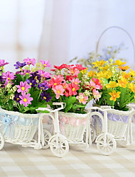 Rattan Trumpet Tricycle Basket/Home Furnishing Ornament/Photo Cane Decoration